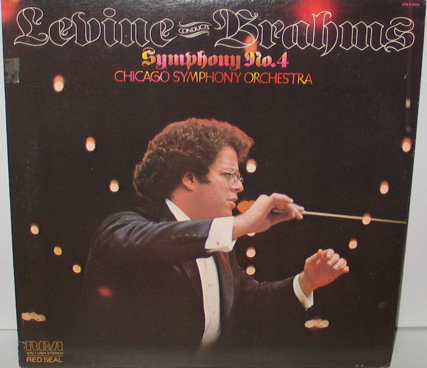 Levine Conducts Brahms - Chicago Symphony Orchestra ‎– Symphony No. 4 - New Vinyl 1978 (Original Press) Stereo USA - Classical