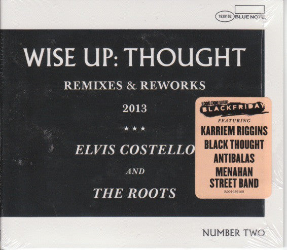 "Elvis Costello & The Roots - Wise Up: Thought, Remixes & Reworks - New Vinyl Record 2013 Blue Note10"" Remix EP - Rock / HipHop (FU: Costello)"