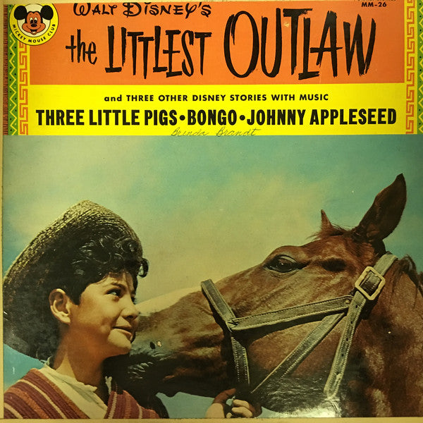Walt Disney - Story Of The Littlest Outlaw - VG+ Lp Record 1963 USA Original Vinyl - Story / Children's
