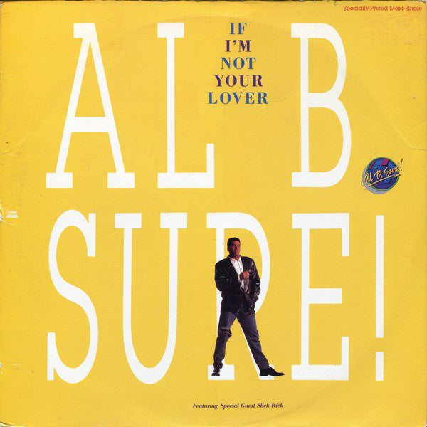 "Al B. Sure! ‎– If I'm Not Your Lover VG+ - 12"" Maxi-Single 1988 Warner Bros. USA - RnB/New Jack Swing"