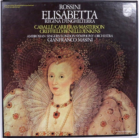 Rossini, Ambrosian Singers, London Symphony Orchestra, Gianfranco Masini ‎– Elisabetta, Regina D'Inghilterra - New Vinyl Record 1976 (Original Press) Netherlands Import 3 Lp Box Set Stereo - Classical/Opera
