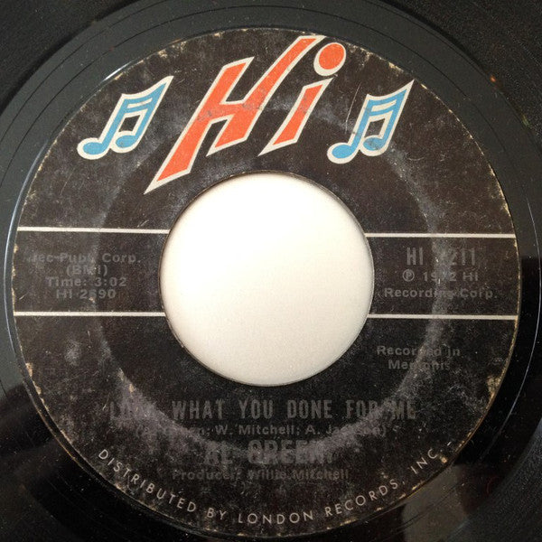 "Al Green ‎– Look What You Done For Me / La-La For You VG+ 7"" Single 45 Record 1972 Hi USA - Soul"