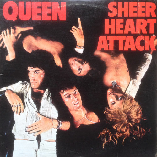 Queen ‎– Sheer Heart Attack VG+ Lp Record 1974 Stereo USA Original with Insert Sheet - Glam / Hard Rock