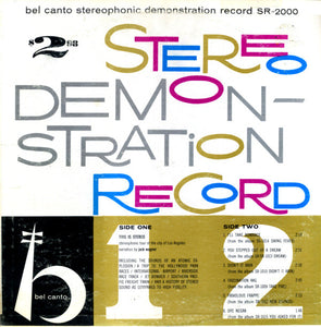 Various ‎– Bel Canto Stereophonic Demonstration Record - VG+ Lp Record 1959 Bel Canto USA Stereo Multicolor Rainbow Vinyl - Jazz / Technical / Spoken Word
