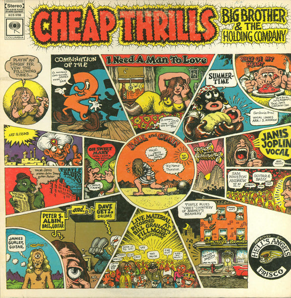 (Janis Joplin) Big Brother & The Holding Company ‎– Cheap Thrills - VG 1968 USA Stereo (Original Press 360 Label) - Rock/Psychedelic Rock - B18-048 - Shuga Records Chicago