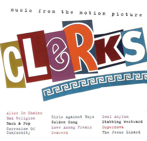 Various ‎– Clerks (Music From The Motion Picture 1994) - New 2 LP Record 2016 SRC/Columbia USA Clear With Black Smoke 180 gram Vinyl - Soundtrack