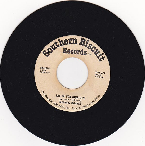 "McKinley Mitchell - Fallin' For Your Love / When It Rains It Pours VG - 7"" Single 45RPM 1980 Southern Biscuit USA - Funk / Soul / Blues"