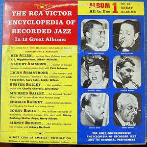 "Various – The RCA Victor Encyclopedia Of Recorded Jazz: Album 1 - VG+ 10"" 1956 Mono USA - Jazz"