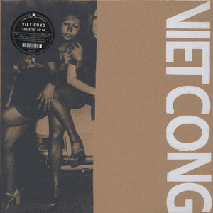 Viet Cong - Cassette - New Vinyl 2014 Mexican Summer Screen Printed Cover w/ Download- Previously available only on cassette (thus the name... get it?) - Post-Punk
