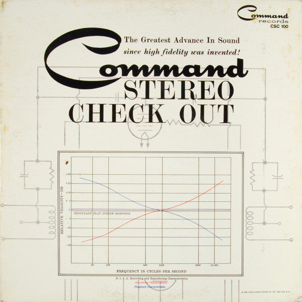 Command Stereo Check-Out - VG+ Stereo 1960 Command USA Test LP - B9-077
