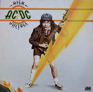 AC/DC ‎– High Voltage - VG- (low grade) Lp Record 1976 USA Original Yellow Label Vinyl - Hard Rock
