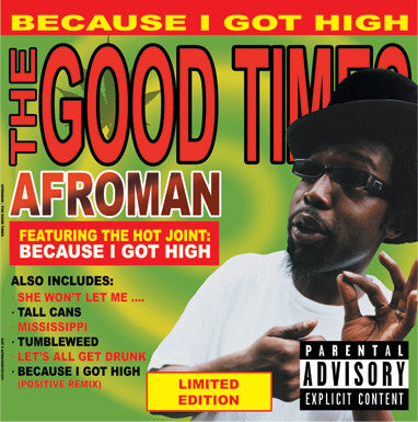 Afroman ‎– The Good Times (2001) - New Vinyl 2016 Limited Edition 2LP Europe Import Pressing (1000 Made On Colored Vinyl) - Rap/Hip Hop