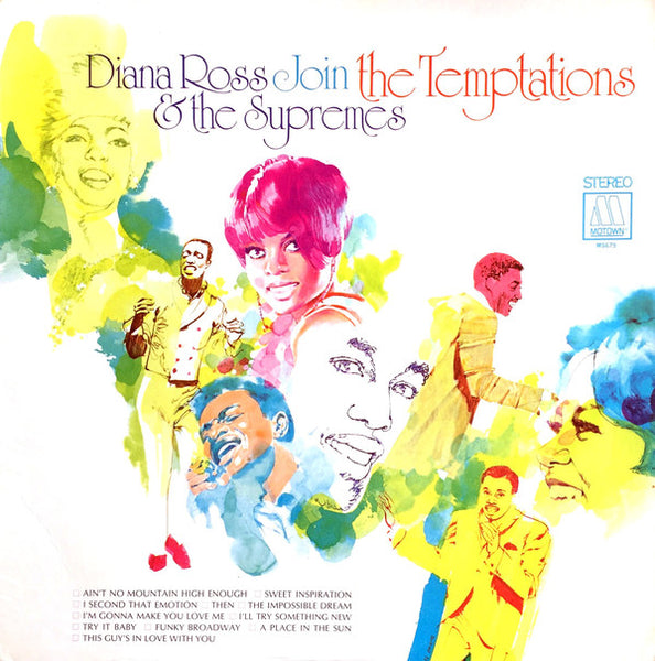 Diana Ross & The Supremes - Join the Temptations - VG Lp Record 1968 Stereo Motown USA Original Vinyl - Soul
