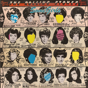 The Rolling Stones ‎– Some Girls - VG Lp Record 1978 USA (Die Cut Sleeve with Celebrity Faces) Original Vinyl - Rock