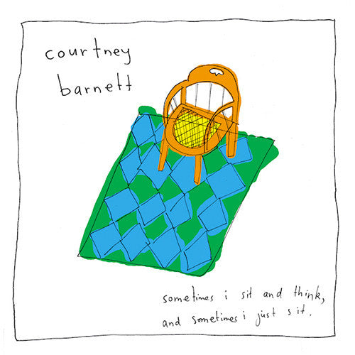 Courtney Barnett - Sometimes I Sit and Think, Sometimes I Just Sit - New Vinyl Record 2015 Mom + Pop Special Edition Gatefold w/ 2-LP Yellow Vinyl, 4 Polaroids, Cover Art Poster, + MP3 - Indie / Singer-Songwriter
