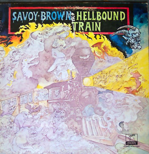 Savoy Brown ‎– Hellbound Train - VG 1972 Parrot Records Stereo Gatefold LP USA - Rock/Blues Rock