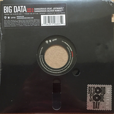 "Big Data - Dangerous 7 - New 7"" Vinyl 2015 RSD (Square-SHAPED FLEXI-Disc, limited to 1900"