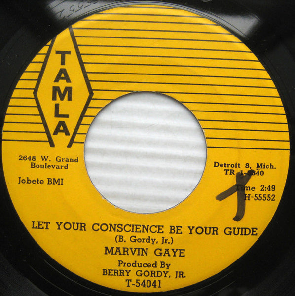 "Marvin Gaye - Let Your Conscience Be Your Guide / Never Let You Go - New Vinyl Record 2015 Third Man USA Tamla Reissue Series 7"" 45 RPM Single - Funk / Soul"
