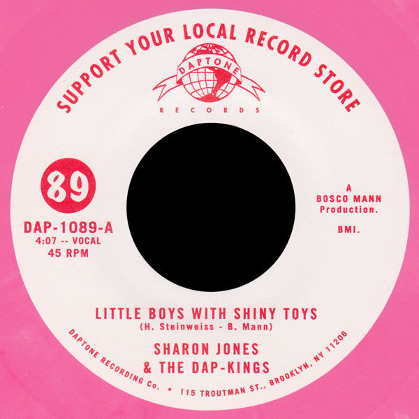 "Sharon Jones & The Dap-Kings - Little Boys With Shiny Toys - New 7"" Vinyl 2015 Limited to 2000 Copies"