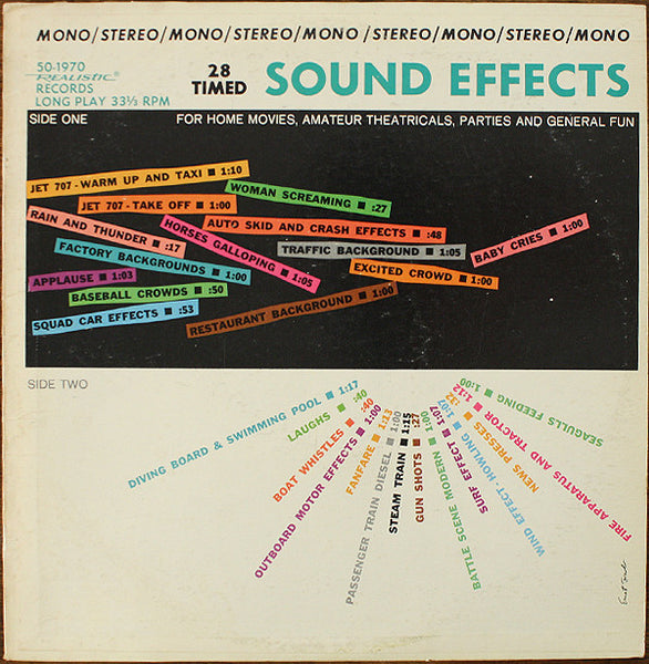 28 Timed Sound Effects - VG+ 1970 Stereo/Mono USA - Sound Effect