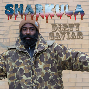 Sharkula - Dirty Caviar - New Vinyl Record 2015 Atomic Mouse Recordings - Limited Edition, Handcut by hand one at a time! Limited Edition, There may be imperfections, this is a piece of handmade art. MP3 Download Code Included - Chicago IL Rap/Hip-Hop