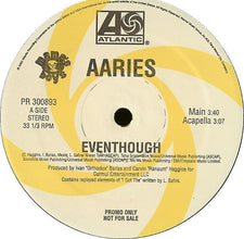 "Aaries – Eventhough - Mint- 12"" USA 2002 Promo - Hip Hop"