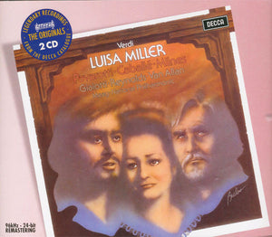 Pavarotti, Caballé, Milnes, Giaiotti, Reynolds, Van Allan, Maag, National Philharmonia ‎– Verdi : Luisa Miller - New Vinyl Record 1976 (Original Press) Stereo 3 Lp Set - Classical/Opera