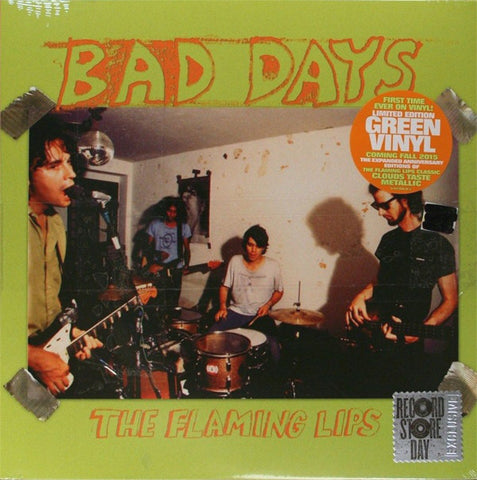 "The Flaming Lips ‎– Bad Days - New 10"" Lp Record Store Day 2015 RSD Green Vinyl - Psychedelic Rock / Alternative Rock"