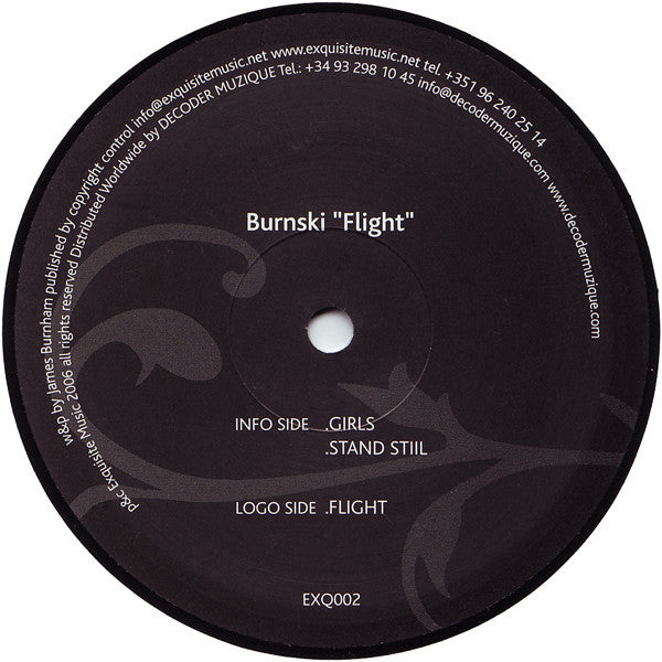 "Burnski – Flight 12"" Single 2006 Portugal Import - Tech House"
