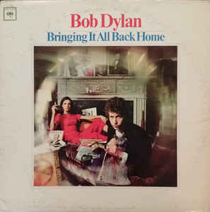 Bob Dylan - Bringing It All Back Home - VG Lp Record 1965 Mono Vinyl Original USA - Rock / Folk Rock