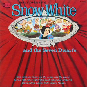 Various ‎– Walt Disney's Snow White And The Seven Dwarfs - VG Lp Record 1960 Disneyland Magic Mirror USA Vinyl & Book - Children's / Soundtrack