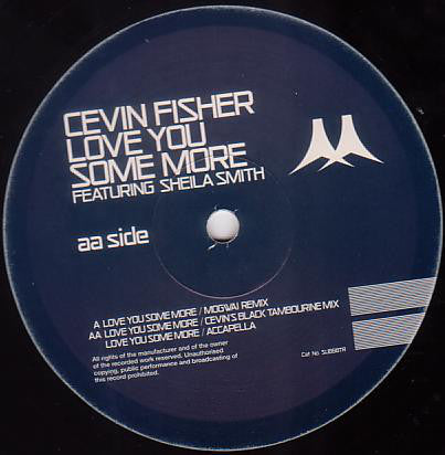 "Cevin Fisher – Love You Some More) (Mogwai Remix)- VG+ 12"" Single UK Import 2000 - Progressive House"