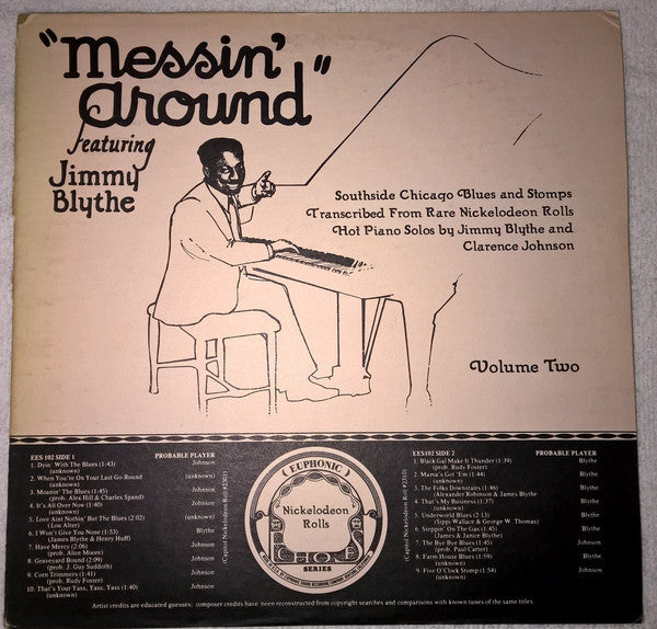 Jimmy Blythe - Messin' Around Volume Two - Mint-  w/ Original Booklet - B9-064
