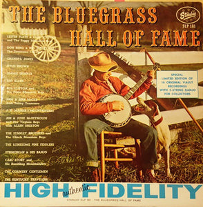Various – The Bluegrass Hall Of Fame - VG+ 1976 USA - Country