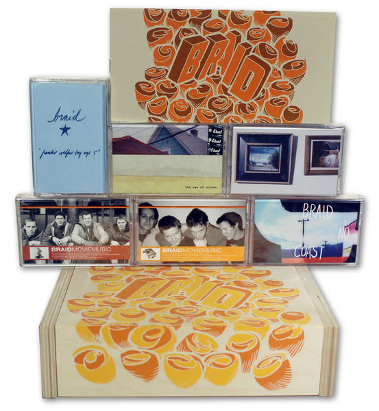 Braid ‎– 6 Cassettes Box Set - New (Limited to 500. Includes all 6 Braid releases) 2015 USA - Indie Rock