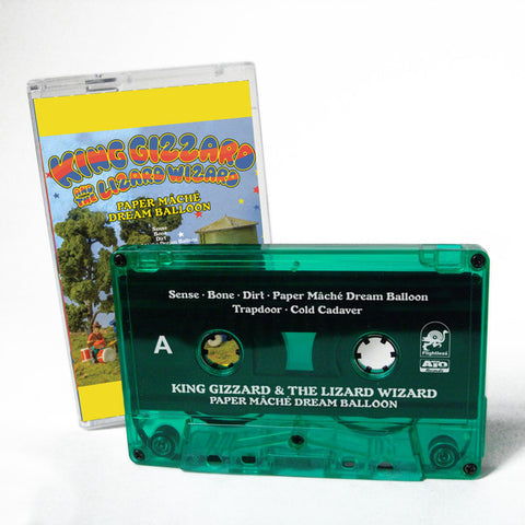 King Gizzard And The Lizard Wizard ‎– Paper Mâché Dream Balloon - New Cassette 2015 Limited Edition Green Tape (Only 500 Copies Made!) - Psychedelic / Kraut / Garage Juggernauts from Melbourne, Australia