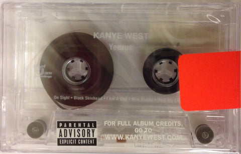 Kanye West ‎– Yeezus - New Cassette Tape 2015 Limited Edition Clear Tape - Hip Hop