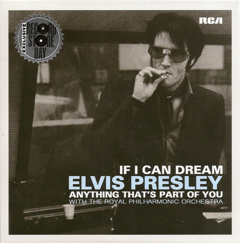 "Elvis Presley With The Royal Philharmonic Orchestra ‎– If I Can Dream - New 7"" Single 2015 Record Store Day Black Friday Vinyl - Rock Pop"