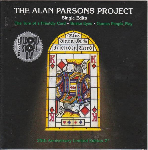 "The Alan Parsons Project - Single Edits - New Vinyl Record 2015 Record Store Day Black Friday Limited Edition 7"" (1000 Copies)"