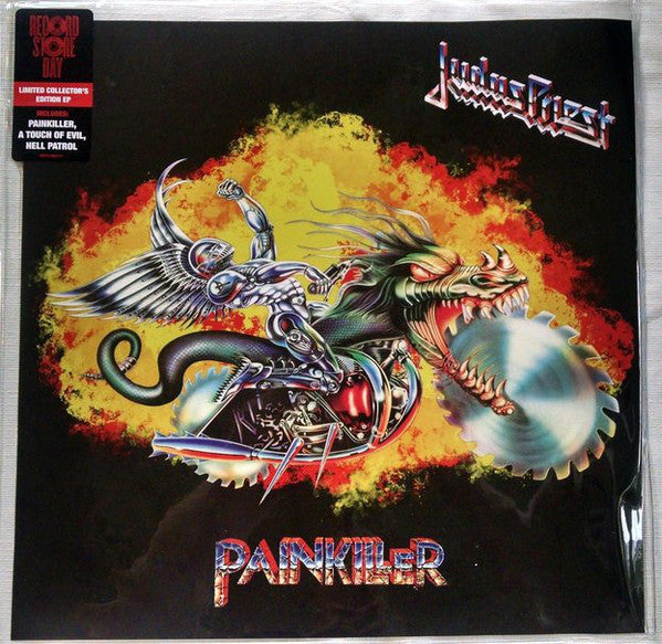 Judas Priest - Painkiller - New Lp Record 2015 Record Store Day Black Friday Blue Vinyl Sawblade Picture Disc - Heavy Metal