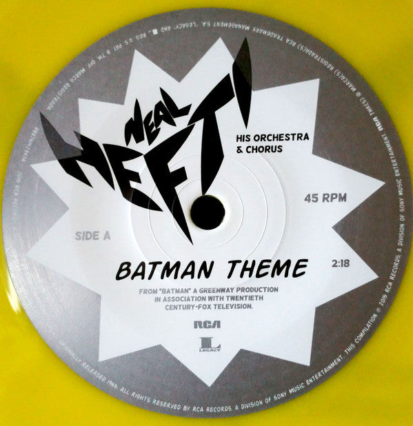 "Neal Hefti - Batman Theme - New Vinyl Record 2015 Record Store Day Black Friday 7"" Single on Yellow Vinyl, Limited to 4900"