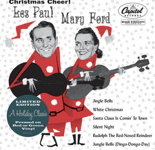"Les Paul + Mary Ford - Christmas Cheer! - New Vinyl 2015 Record Store Day Black Friday Limited Edition 10"" on Red or Green Vinyl (1000 pressed of each) - Christmas / Jazz / Country / Blues"