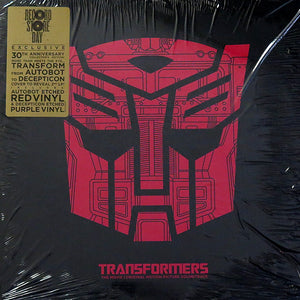 Various ‎– Transformers: The Movie (Original Motion Picture Soundtrack)(1986) - New 2 Lp Record Store Day Black Friday 2015 Volcano/ Legacy USA RSD Red & Purple Etched Vinyl - Soundtrack