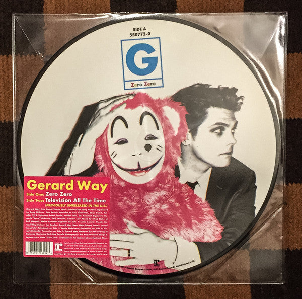 "Gerard Way (My Chemical Romance) - Zero Zero / Television All The Time - New Vinyl Record 2015 Reprise 12"" Picture Disc - Alt-Rock / Pop Punk"