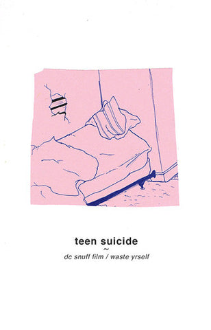Teen Suicide - DC Snuff Film / Waste Yrself - New Cassette 2015 Run for Cover Comp. Limited Edition Red Tape - Indie Rock / Lo-Fi / Noise Pop