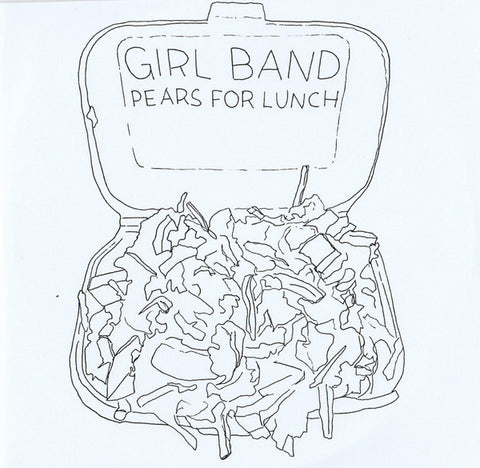 "Girl Band - Pears for Lunch - New Vinyl Record 2015 Rough Trade Limited Edition UK Import 7"" Single w/ Etch Side, Hand-Folded Cover & Hand-Numbered by the band to 1000! - No Wave / Post-Punk / Experimental."