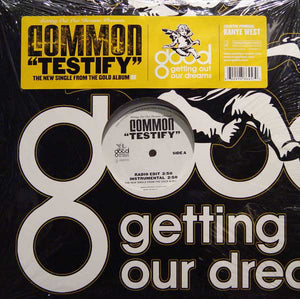 "Common ‎– Testify - New Vinyl Record 12"" Single 2005 USA (Kanye West Produced) - Hip Hop"