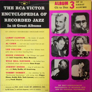 "Various – The RCA Victor Encyclopedia Of Recorded Jazz: Album 3 - Cli To Dor - VG+ 1956 USA 10"" - Jazz"