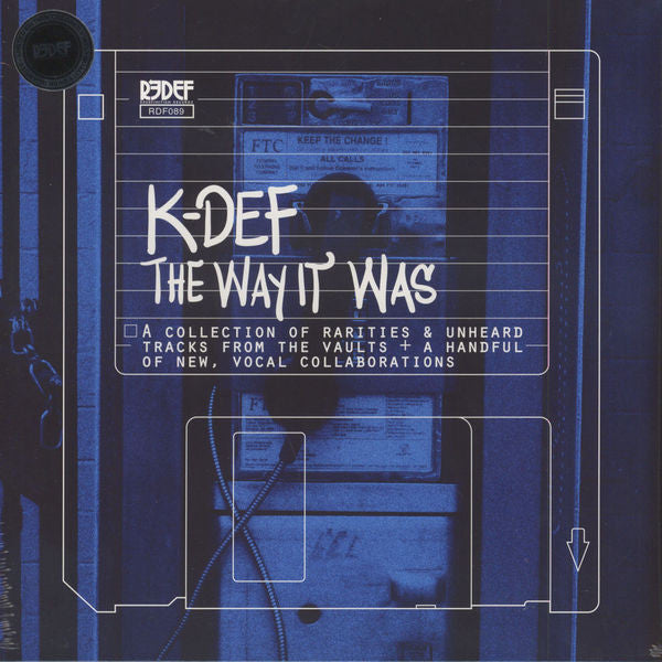"K-Def - The Way It Was - New Vinyl Record 2016 Redefinition Records Limited Edition on ""Sea Blue"" Vinyl - Instrumental / Hip Hop"