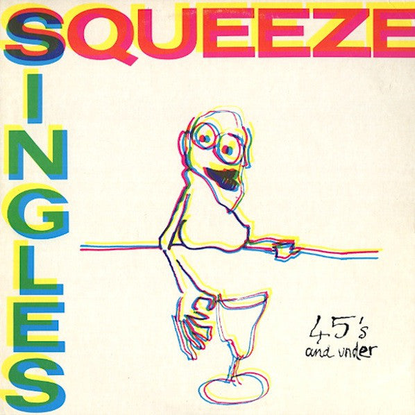Squeeze ‎– Singles - 45's And Under - VG+ Lp Record 1982 USA Original Vinyl - Pop Rock